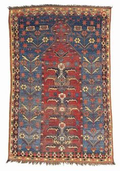 LOT 72. A BESHIR PRAYER RUG, MIDDLE AMU DARYA REGION, CIRCA 1800. Christies 'Oriental Rugs and Carpets' 8 October 2013.