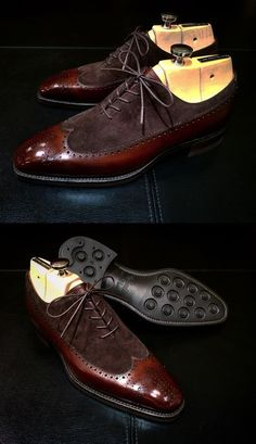Handmade men spectator shoes, men wingtip brogue leather shoes, brown mens shoes | Clothing, Shoes & Accessories, Unisex Clothing, Shoes & Accs, Unisex Adult Shoes | eBay!