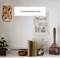 Poppytalk: DIY Leather Pendant Light