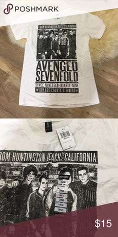 Avenge Sevenfold White TShirt Brand new avenge seven fold white top Hot Topic Shirts Tees - Short Sleeve