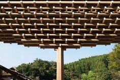 Yusuhara Wooden Bridge Museum,© Takumi Ota Photography