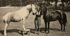 Marguerite with Misty and Friday from A Pictorial Life Story of Misty, by Marguerite Henry Marguerite Henry, Horse Story, Chincoteague Ponies, Horse Books, Just Dream, God Bless America, Horse Riding, Mans Best Friend, Sassy