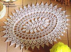 Croche e Pontos: NAPERON - Pink Rose Crochet