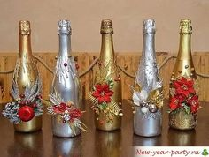 бутылка дама декорирование к новому году: 18 тыс изображений найдено в Яндекс.Картинках