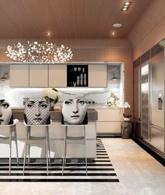 Home Designing — (via A Modern Art Deco Home Visualized in Two...