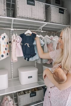 Excellent baby arrival info are offered on our website. Take a look and you wont be sorry you did. Girls Closet Organization, Nursery Organization, Organization Ideas, Organizing, Baby Outfits, Bebe Love, Closet Collection, Ideas Para Organizar, Baby Arrival