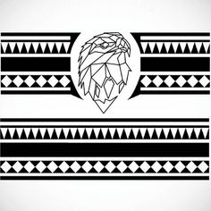 Polynesian bracelet tattoo design #tattoo #ink #art #design #tattoodesign #blackandwhite #photoshop #illustrator #illustration #sketch #drawing #bracelet #eagle #maori #polynesian