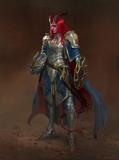 Tiefling Paladin, Dnd Paladin, Tiefling Female, Dungeons And Dragons Characters, Dnd Characters, Fantasy Characters, Female Characters, Dungeons And Dragons Paladin, Tatouage Seven Deadly Sins