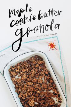 maple cookie butter granola - smells amazing and #vegan to boot! click through for the recipe.