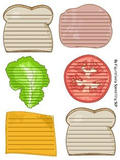 Sandwich Paragraph Writing - Great for teaching essays, each piece of the sandwich represents a different part of the essay or story. (Maybe I'm just picky, but it looks like 6 paragraphs to me. Writing Strategies, Writing Lessons, Teaching Writing, Writing Skills, Writing Activities, Teaching English, Comprehension Activities, Kids Writing, Writing Paper