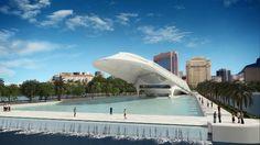Arquitetura do Museu do Amanhã concebida pelo escritório do arquiteto Santiago Calatrava. The Museum of Tomorrow 's Architecture designed by architect Santiago Calatrava.