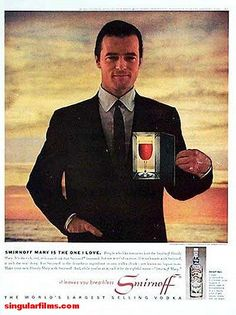 Robert Goulet, for Smirnoff Vintage Ephemera, Vintage Ads, Robert Goulet, Boys Playing, Yesterday And Today, Extreme Weather, Me On A Map, Vintage Advertisements, Movie Stars