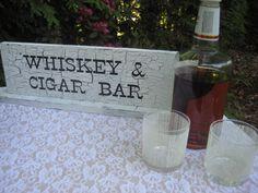 Whiskey and Cigar Bar. My boyfriend would love the cigar bar! Chic Wedding, Wedding Signs, Rustic Wedding, Wedding Stuff, Wedding Ideas, Cupcake Stand Wedding, Wedding Cake Stands, Rustic Chic, Shabby Chic