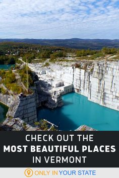 These stunning natural attractions are among the most beautiful places in Vermont. All make for great day trips! Find quarries, state parks, mountains, waterfalls, and stunning hiking trails on this list of local gems. Vacation Places, Vacation Destinations, Vacation Spots, Vacation Ideas, Places To Travel, Places To Visit, Usa Travel, Travel Tips, 50 States