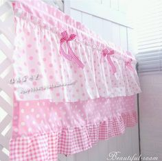 Manta rosa frete grátis babados bow bela cortina café semi sombra pequeno curto cozinha cortinas 50 * 150 CM personalizado(China (Mainland))