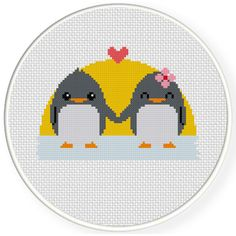 Charts Club Members Only: Penguin Lovers Cross Stitch Pattern