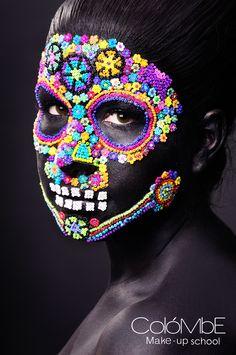 Maquillaje por alumna Adriana Cervantes