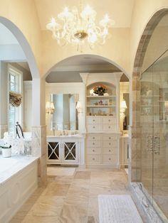 Hendel Homes Design Ideas, Traditional Bathroom, Minneapolis interior home design ideas Beautiful Luxury House Design by Ando Studio. Dream Bathrooms, Beautiful Bathrooms, Master Bathrooms, Glamorous Bathroom, White Bathrooms, Master Baths, Luxury Bathrooms, French Country Bathroom Ideas, Fancy Bathrooms