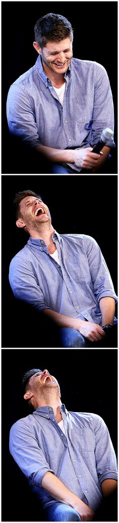 Literally the best laugh in the world! #JibCon14 #Jensen