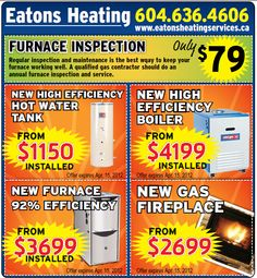 Eatons Heating    www.eatonsheatingservices.ca Water Efficiency, February, Ads