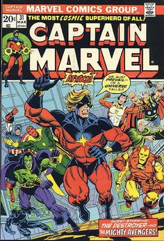 old comic books | Captain Marvel #31 comic book from Marvel Comics Group