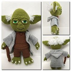 Love to crochet, do you? This Yoda pattern is perfect for any Star Wars lover!