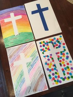 If you have never done a Tape Resistant art project then you are missing out. They are so fun to do! You just use blue painters tape to make a cross on the paper and then color, paint, or stamp a design on the paper. # easter crafts for kids Bible School Crafts, Bible Crafts For Kids, Sunday School Crafts, Preschool Crafts, Easter Crafts For Toddlers, Easter Activities, Toddler Crafts, Easter Cross, Easter Art