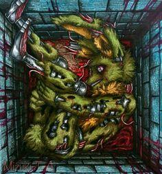 A caged life / Springtrap FNaF by Mizuki-T-A.deviantart.com on @DeviantArt