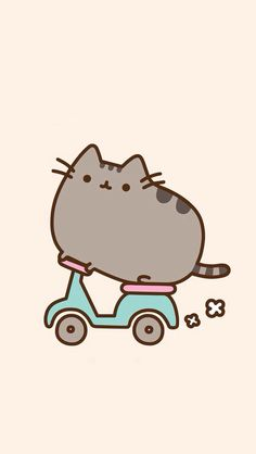 Pusheen the cat is super cute!