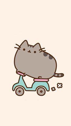 yo también quiero un pusheen con una moto d:'v