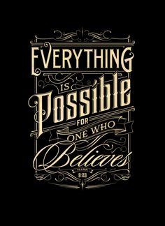 Everything is Possible | Typography Poster on Behance by Tomasz Biernat