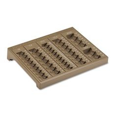 PM Company Products - PM Company - Counter Change Plastic Coin Tray w/Lock, Pebble Beige - Sold As 1 Each - One-piece plastic tray has pockets for pennies, nickels, dimes, quarters, halves and dollars for precise coin count. - Denominations clearly marked along edge of tray. -