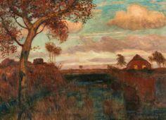 (80) Tumblr  Otto Modersohn (German, 1865-1943), Autumn Evening on the Moor, 1939. Oil on canvas, 61.5 x 85 cm.