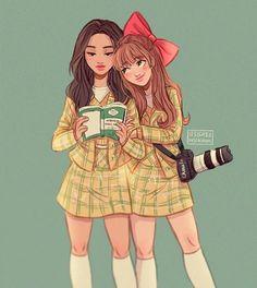 Character Design Idea~ By Itslopez Cute Girl Drawing, Cartoon Girl Drawing, Girl Cartoon, Cartoon Drawings, Cartoon Art, Best Friend Drawings, Bff Drawings, Pretty Art, Cute Art