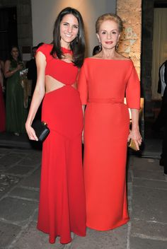 Kelly Talamas y Carolina Herrera