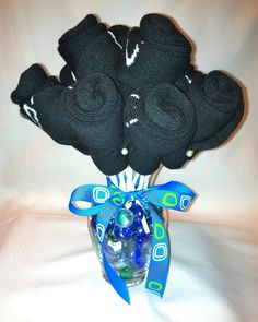 Gift for Him--sock rose bouquet