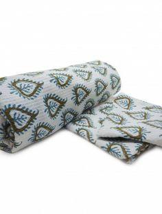Leaf Set of 1 Cotton Bath-Towel & 2 Cotton Face-Towels