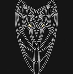 The Morrigan's Crow, an original Celtic knot creation Celtic Raven, Celtic Tribal, Celtic Art, Wicca, Magick, Witchcraft, Yggdrasil Tattoo, Celtic Goddess, Raven Tattoo