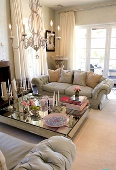 Gorgeous Living room - love the coffee table