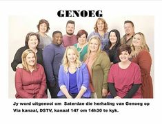 REBROADCAST / HERUITSENDING BACK ON POPULAR DEMAND...  Genoeg is broadcast on channel 147 on Sundays 14h30 and Mondays 02h30 again.