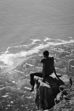 watching the Beach Road from  Lion's Head - where I was brought up in Cape Town! - Oh how this City has changed since then......
