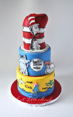 Dr. Seuss Baby Shower Cake by Stephanie