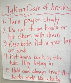 "Taking Care of #Books. My fav is #2: ""Do no throw books or hit other with them."" (no matter how annoying the book or the person). #Forfun"