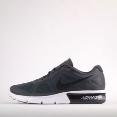Nike Air Max Sequent Mens Running Trainers Shoes Sneakers Grey #Nike #RunningTrainersShoes