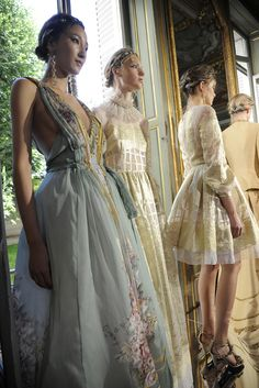 Looks from Alberta Ferretti's limited-edition spring 2016 evening collection. [Photo: Dominique Maître]