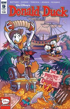 Cover for Donald Duck (IDW, 2015 series) / 376 Classic Disney Characters, Childhood Characters, Disney Cartoon Characters, Disney Cartoons, Walt Disney Pixar, Arte Disney, Disney Fun, Disney Pics, Disney Stuff