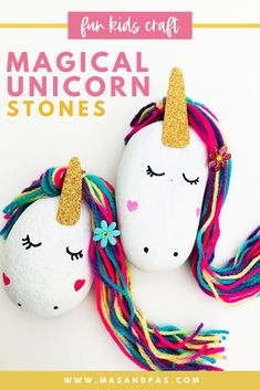 Who doesn't love unicorns? You and your kids will love making these adorable magical unicorn stones as an art and crafts project. This would even be a great activity idea for a unicorn themed birthday party! #unicorn #unicorncrafts #craftsforkids #artandcrafts #funkidscrafts