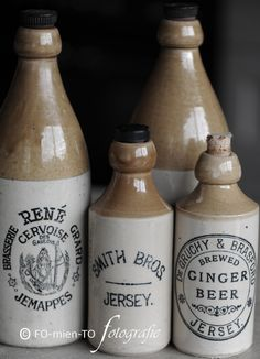 stoneware beverage bottles