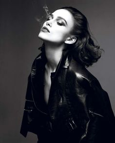 Dark Rebellious Editorials Keira Knightley Stars in the Interview Magazine April 2012 Cover Shoot