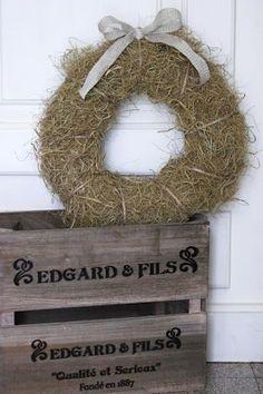 hay wreath